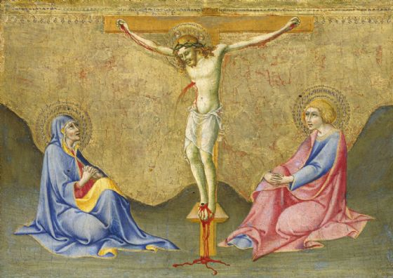 Pietro, Sano di: The Crucifixion. Fine Art Print/Poster. Sizes: A4/A3/A2/A1 (004176)